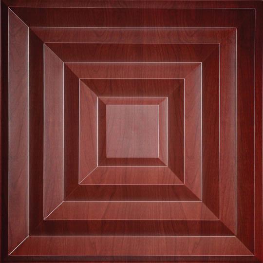 Wood ceiling tiles drop