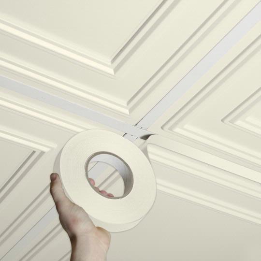 Self Adhesive Bathroom Ceiling Tiles: Grid Tape Sand