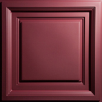 Westminster Coffered Ceiling Tile in Merlot