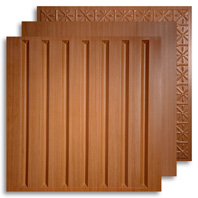 Caramel Wood 2 ft. x 2 ft. Ceiling Tiles