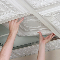 Drop Ceiling Tile Installation