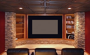 Acoustical Ceiling in a Home Theater