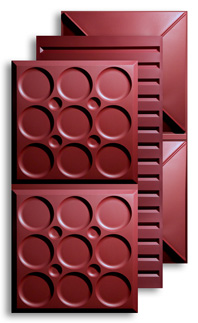 Merlot 2 ft. x 4 ft. Ceiling Panels