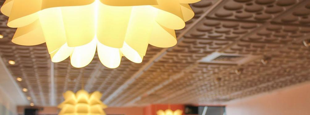 Ceiling tiles for restaurants
