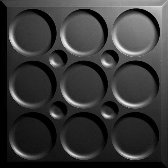 Roman Circle Black Ceiling Tiles