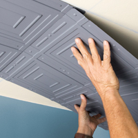 How To Install Glue Up Lap Joint Ceiling Tiles