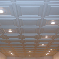 Ceilume S Vinyl Ceiling Tiles With Can Lights