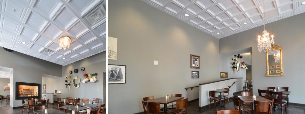 Restaurant Ceiling Tiles Ceilume - Cleanable ceiling tiles
